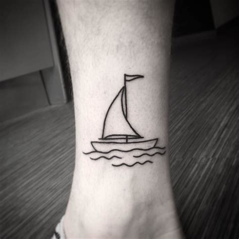 small boat tattoo more pinteres