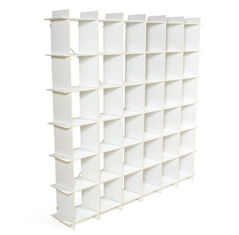 36 Cube Storage Bookcase White Contemporary Display White Cubby Bookcase