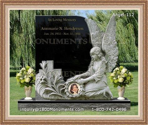 angel headstone 112