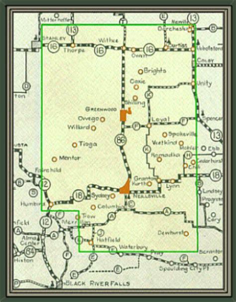 Clark County Property Record Clark County Wisconsin Maps Gazetteers