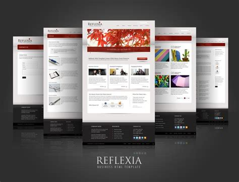 reflexia business html site template psdbucket com