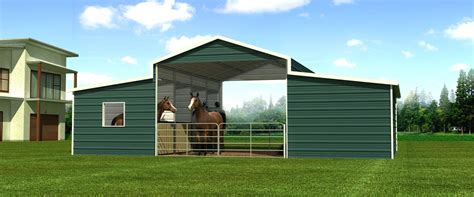Metal Carport Barn Metal Barns Vs Wooden Barns Which Is The Best Option For