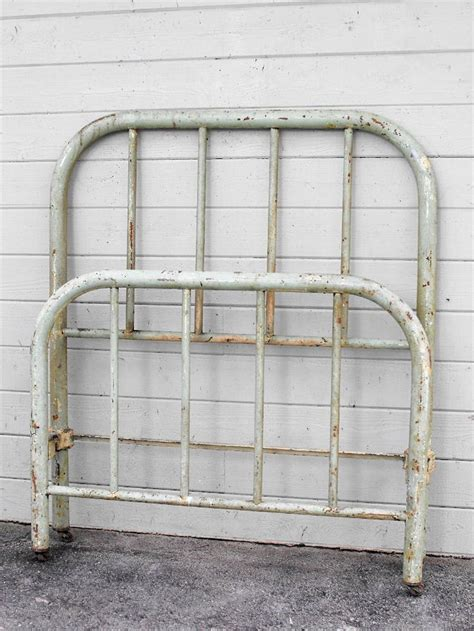 vintage iron bed austere quot depression quot era twin twin single size antique