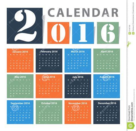delaware design lab calendar dise 241 o del vector del calendario 2016 ilustraci 243 n del
