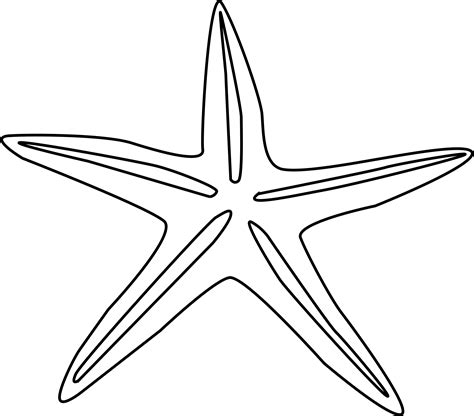 Starfish Outline starfish outline cliparts co