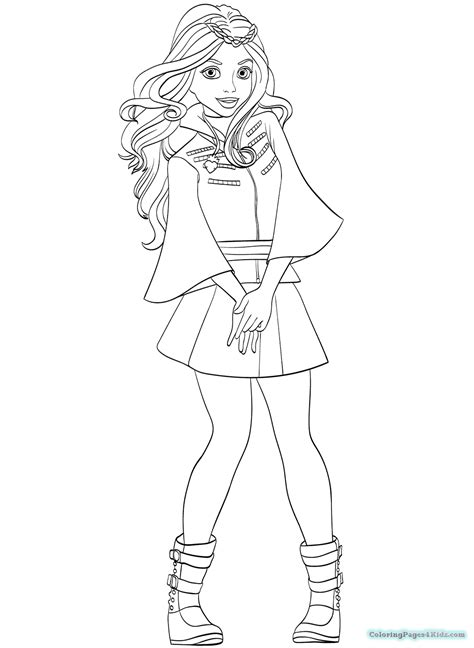 free coloring pages disney descendants disney descendants coloring pages coloring pages for kids