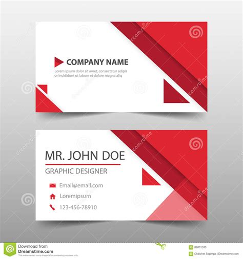 Business Card Preview Template by Triangle Corporate Business Card Name Card Template