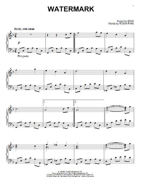 tutorial piano enya watermark sheet music by enya piano 73650
