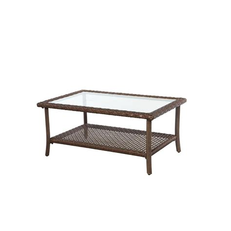 Home Depot Patio Table Hton Bay Bloomfield 40 In Woven Patio Coffee Table 151 039 40rct The Home Depot