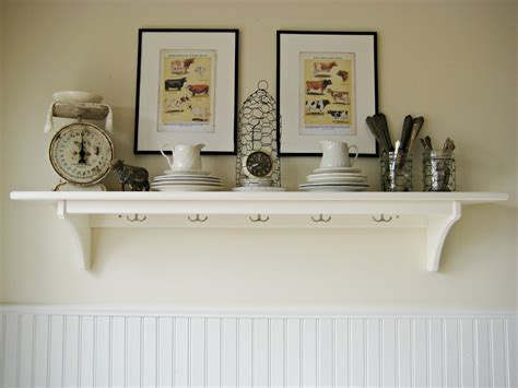 White Wall Shelves for Effective Storage in Small Kitchen