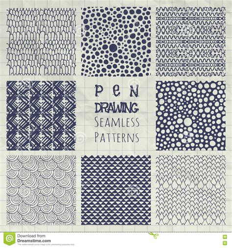 abstract pattern idea abstract pen drawing seamless background patterns set
