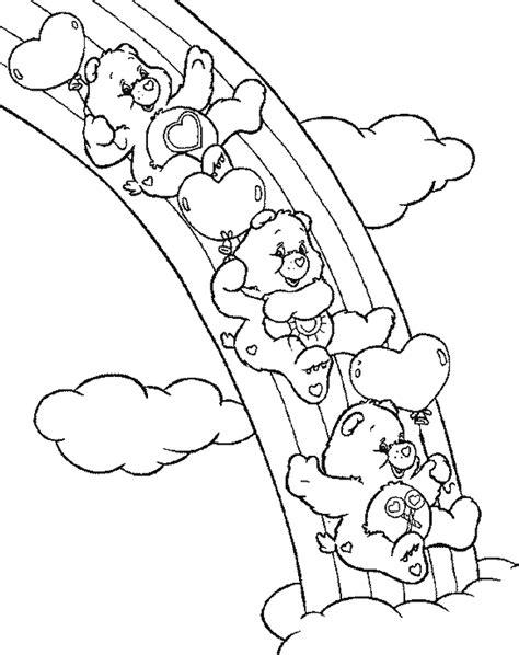 rainbow road coloring page coloriages de bisounours