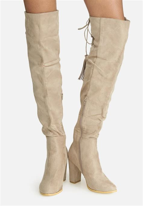 taupe suede the knee boots the knee lace up boot faux suede taupe dailyfriday