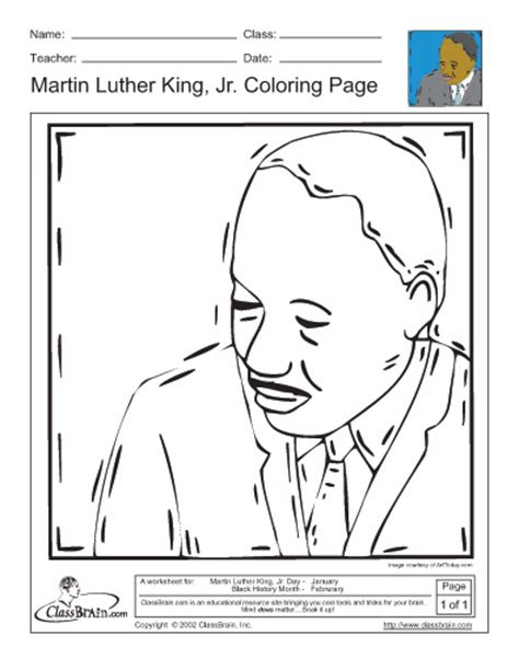 mlk template for coloring new calendar template site