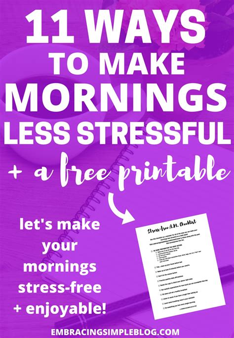 11 ways to make your mornings less stressful free