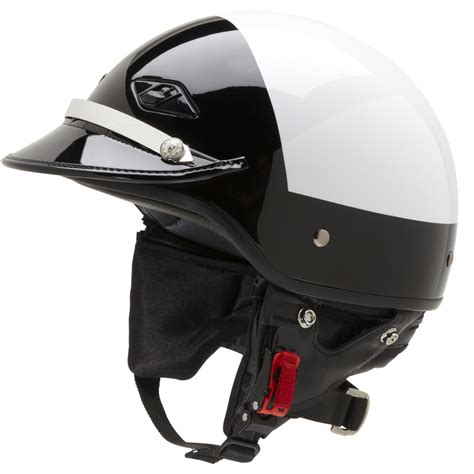 leather motorcycle helmet police motorcycle helmet with patent leather visor
