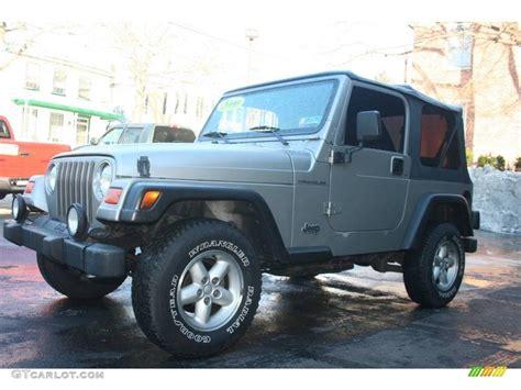 2000 silverstone metallic jeep wrangler se 4x4 23948745 gtcarlot car color galleries