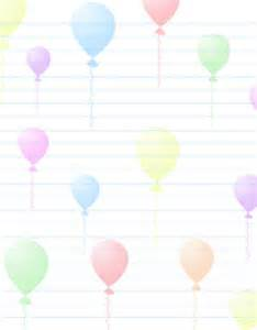 Birthday Stationery Templates Free by Free Stationery Printable Birthday Theme Printable