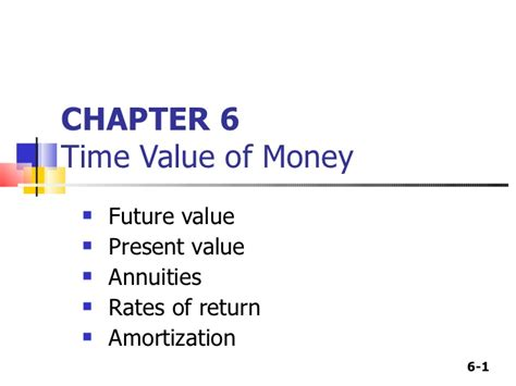 Net Present Value Mba Math by Time Value Of Money