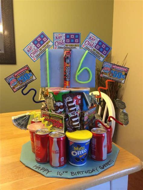 birthday cake  boy pringles soda cookies