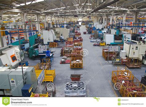 industrial manufacturing shop floor in a factory stock