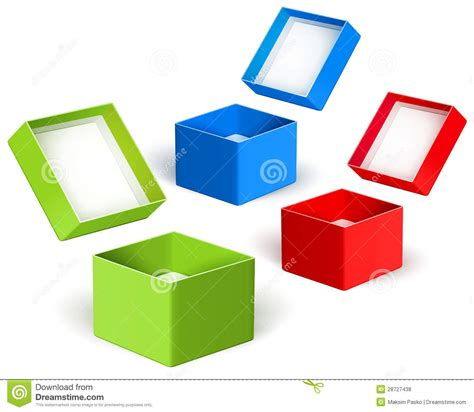 the color box open color boxes vector stock vector image of opened