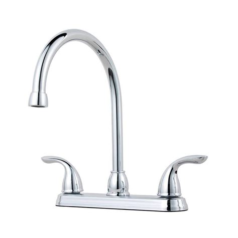 2 handle standard kitchen faucet in chrome hs8181210cp pfister pfirst series 2 handle standard kitchen faucet in