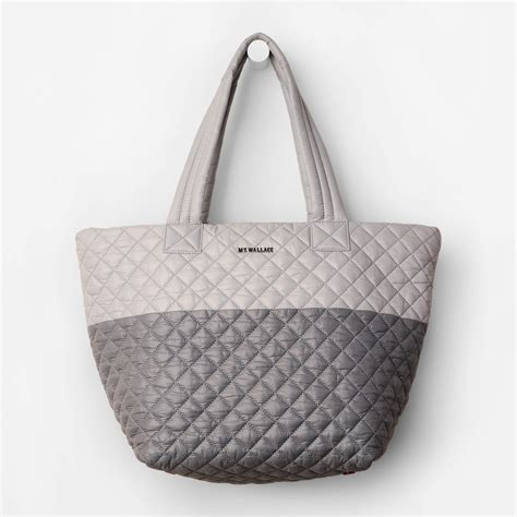 mz wallace mz wallace equinox medium metro tote and cement color block in gray lyst