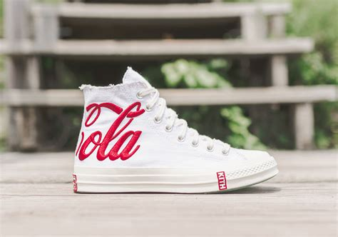 kith shoes kith x coca cola x converse chuck tayler 1970s retro shoes