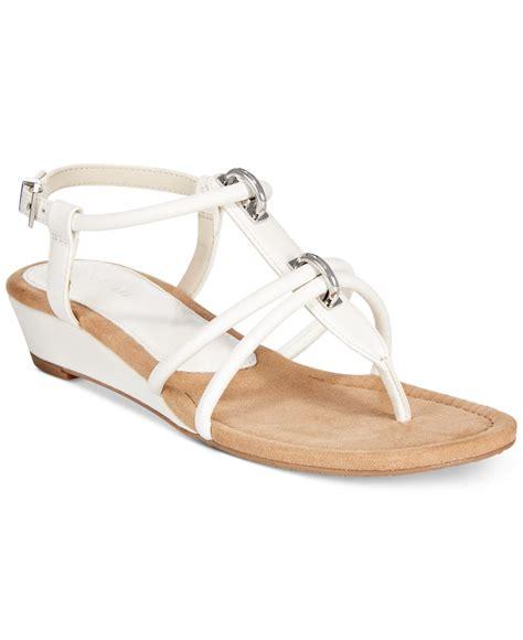 macys dress sandals alfani s carah wedge gladiator sandals only at macy