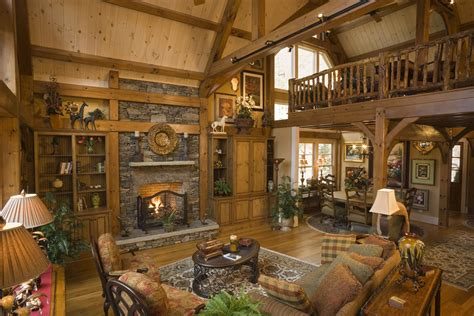 Cottage Home Interiors by Log Home Interiors