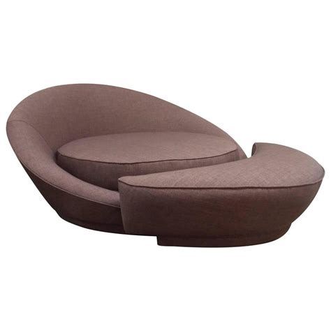 round chair with ottoman milo baughman round loveseat or lounge chair with ottoman