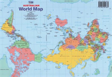 australian map of world why do say australia is
