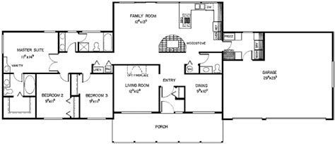 3 Bedroom Ranch House Floor Plans by House Plans Ranch 3 Bedroom Homes Floor Plans