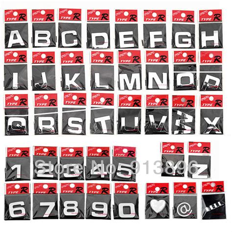 Car Types With 3 Letters by Kopen Wholesale Alphabet Car Decals Uit China