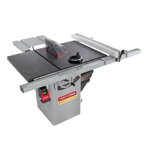 sears hybrid table saw craftsman professional 1 3 4 hp premium hybrid 10 quot table