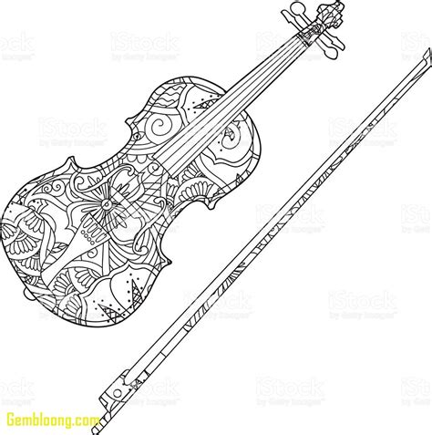 coloring pages violin musical instruments coloring pages violin coloring pages