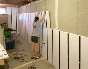 diy basement insulation floor to ceiling insulation in a brick wall basement