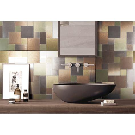 Kitchen Backsplash Metal metal backsplash tiles for kitchen or bath 12x12 in 1 box