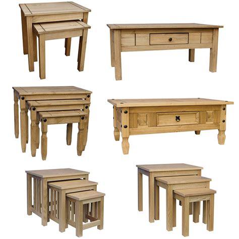 Corona Pine Coffee Table Corona Panama Coffee Table Nest Of Tables Solid Waxed Pine Mexican Furniture Ebay