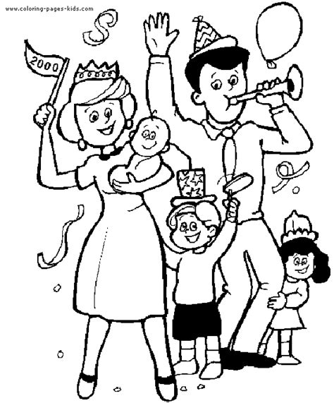 coloring page of family family color page coloring pages for kids family