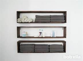 shelves bathroom wall diy wall shelves in the bathroom tutorial bob vila