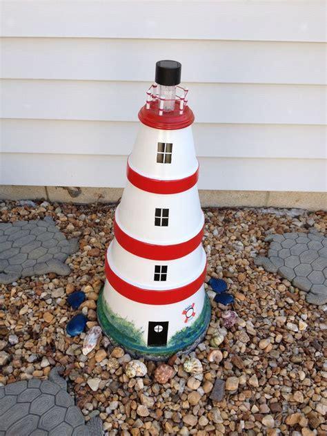 diy lighthouses my clay pot lighthouse