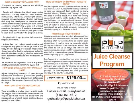 Juice Detox Ontario by Pulp Kitchen Juice Cleanse Dwell 24 Hour Access