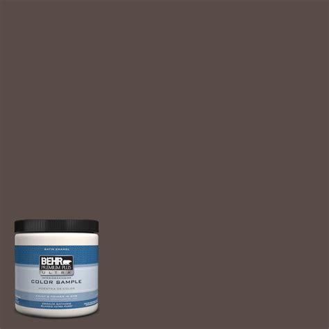 behr premium plus ultra 8 oz ppu5 19 truffle interior exterior satin enamel paint sle