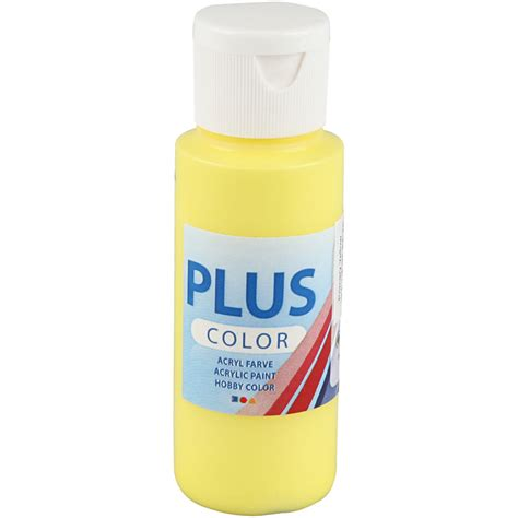 plus color acrylic paint primary yellow 60 ml scrapparazzi