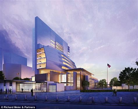 us architects revealed the new 163 650m high security us embassy complete with moat daily mail
