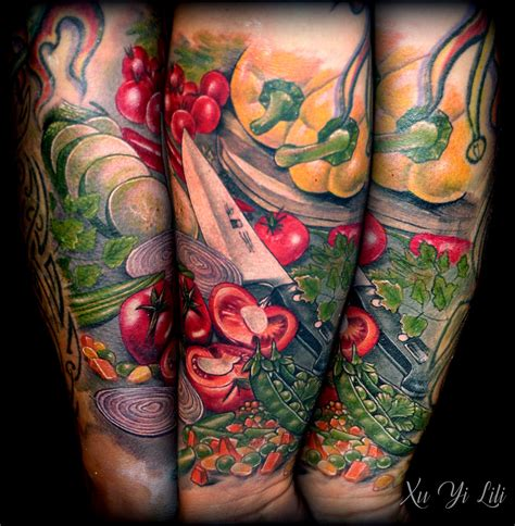 food tattoo designs vegetables tattoos vegetable