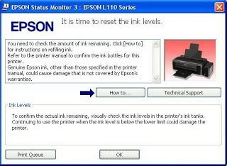 Cara Reset Printer Epson L110 Tanpa Software | cara mereset printer epson l110 l100 l210 l300 l350