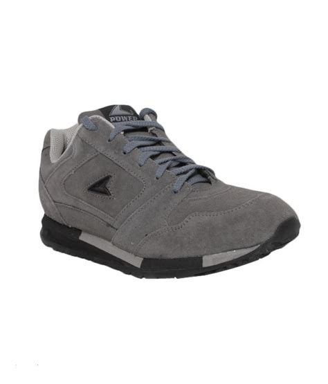 power shoes for power sturdy grey running shoes price in india buy power